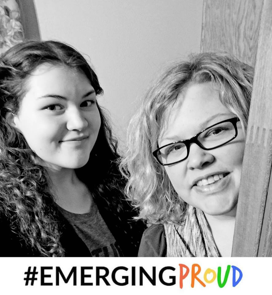 Emerging Proud blog pose - Heather and daughter Ellie #Emerge Proud to give hope to other families