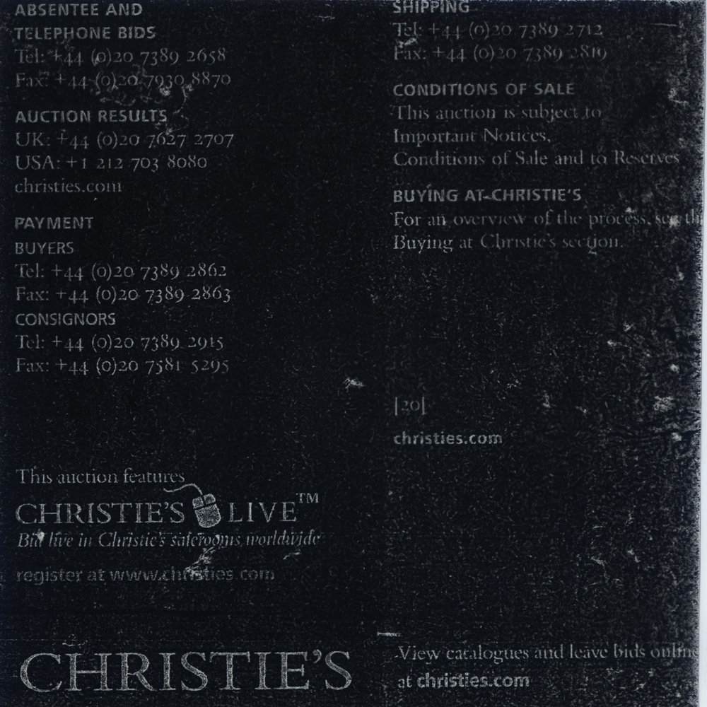 A series of bootleg prints from Christie's Photography auction catalogue 15th May 2008.   acetate negatives  unfixed photograms  4.5 in x 5 in  2017
