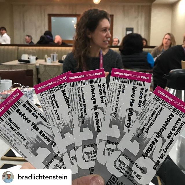 The Ashe '68 team has arrived at @sundanceorg! They have their tickets ready, do you have yours? @ashe_68 can be seen all week at The Box at the Ray.  Visit sundance.org for times and more information!