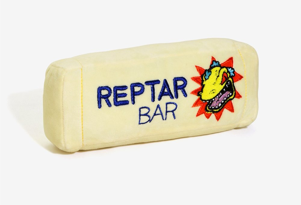Purchase #2 - I challenge you to find a more epic dog toy than this Rugrats Reptar Bar from BoxLunch. My dog loved it and as a child of the 90's, it brings back memories of watching endless hours of Nickelodeon.