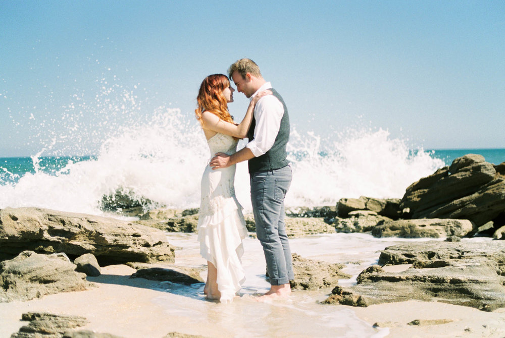 Melissa & Derek - Coquina Rocks at Washington Oaks Beach