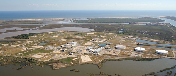 The Bryan Mound Strategic Petroleum Reserve site, one of several in the U.S., is capable of holding 226 million barrels of oil. Source: The Center for Land Use Interpretation.