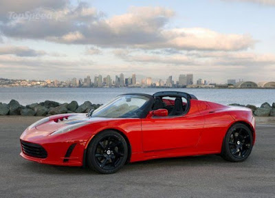 """What about me?""--Tesla Roadster, From TopSpeed.com"
