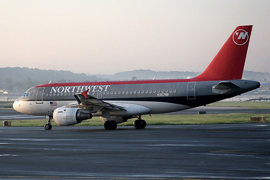 Northwest Airlines, now owned by Delta, from  Cliff1066 .
