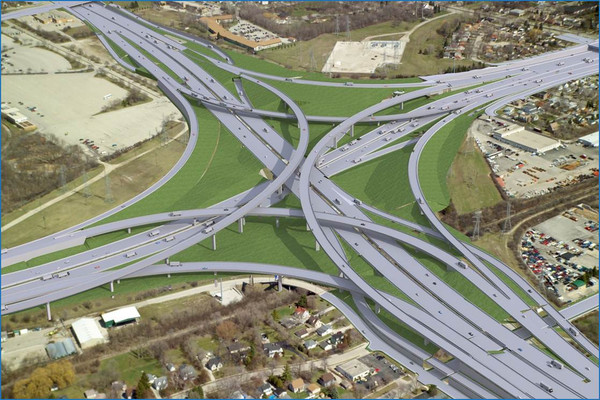 "Wisconsin DOT's $1.7 billion ""Zoo Interchange"" proposal."