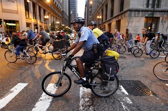 Critical Mass in Baltimore, from the  Baltimore Sun .