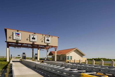 SH 130 Mainlane toll plaza near CR 107.