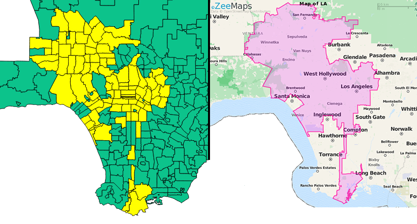Los Angeles Map By Zip Codes.Wait Who S Greedy Many La Homes Going Up In Value More Than