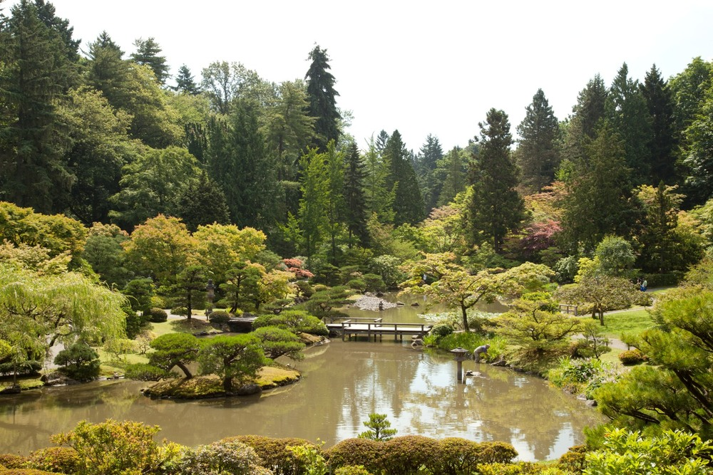 "A section of the Japanese Garden, located in Washington Park, a ""Great Park"" in Seattle. Photo by Paul Randal."