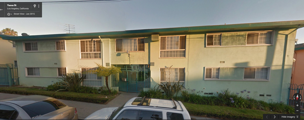 Google Maps street view of the Yucca-Argyle apartments.