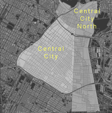 The two Community Plan Areas being updated through the DTLA 2040 effort, Central City and Central City North.