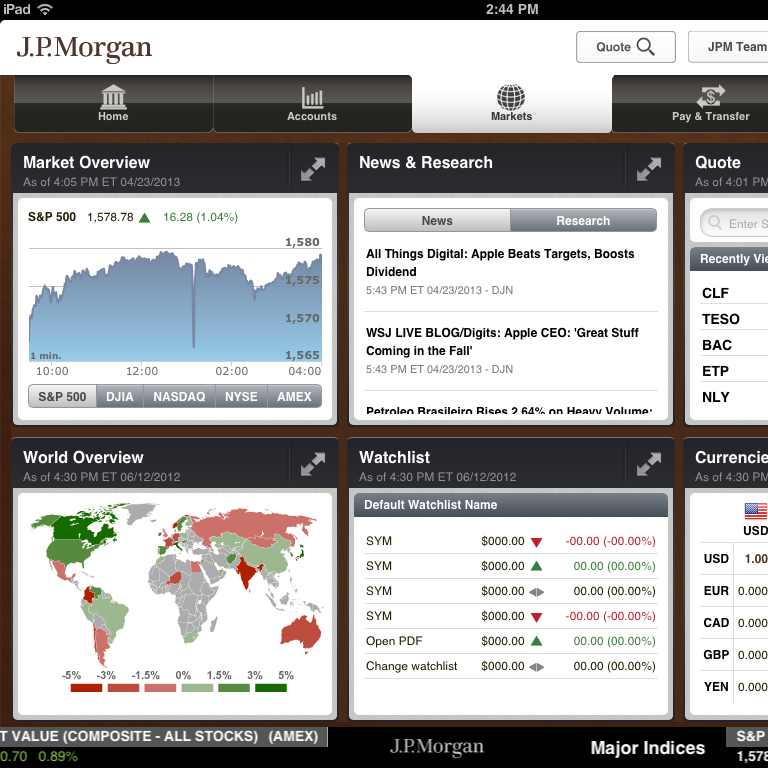 JPM iPAd Application