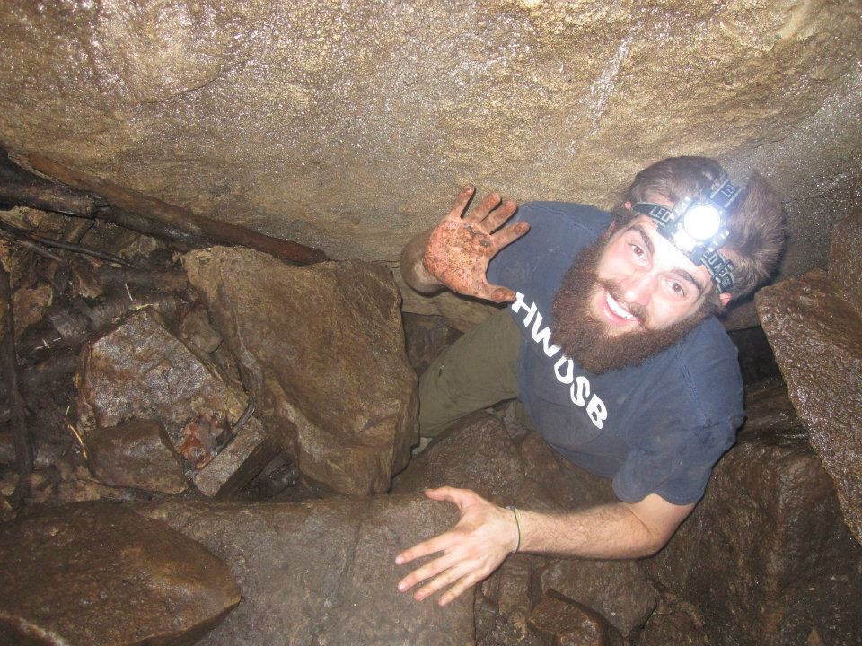 Emerging from the Mt. Nemo caves, no one is really sure where Kris Harley's hair ends and his beard begins