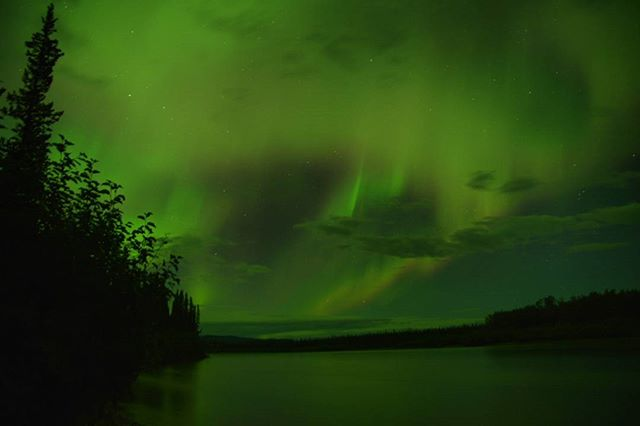 Crank your brightness for the epicness of this pic! Taken at 1:30am on the last night of our Teslin/Yukon River Expedition! Such a surreal way to end a surreal trip! . Photo by @amirr.fishman with @overhangadventures . . . . . . #goplayoutside #northernlights #yukon #yukonriver #teslin #nature #overhangadventures #skyporn #explore #optoutside #discoverearth #camping #exploretocreate #globe_travel #theglobewanderer #roamtheplanet #exploretheglobe #earthfocus #pleinair #ourplanetdaily #earthofficial #natgeo #nationalgeographic #awesome_earthpix #travelstoke #canoe #river #mec #mecnation