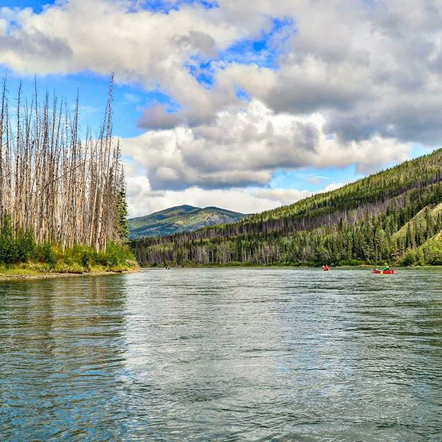 It may be a blizzard in Ontario, but Yukon is heating up for a beautiful summer!  Just kidding. It's still cold. . . . . .  #adventure #overhangadventures #fun #awesome #nature #goplayoutside #overhang #smile #yukon #yukonriver  #camping #outside #outdoors #wilderness #natureporn #landscape #breathtaking #river