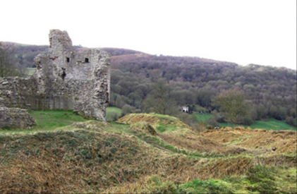 Caergwrle Castle, also known as Hope Castle.