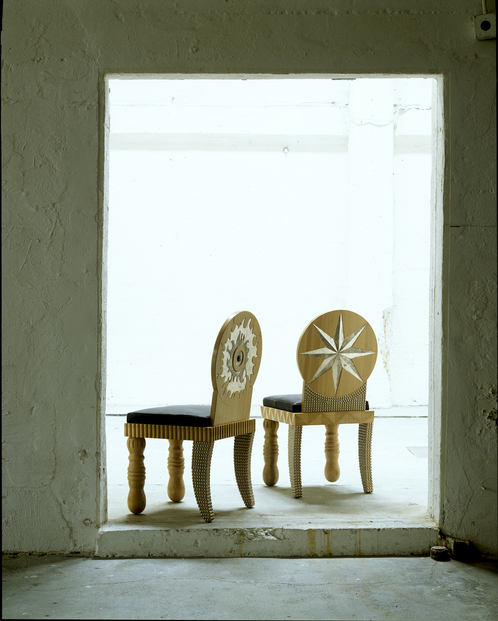 Circle Sunburst and Starburst Chairs-OAKLAND MUSEUM, Oakland, CA.jpg