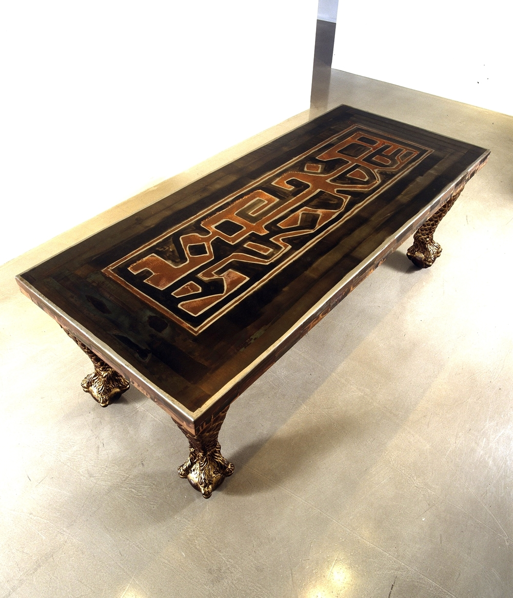 Bakuba Griffin Dining Table-MINT MUSEUM OF DESIGN,Charlotte, NC.jpg