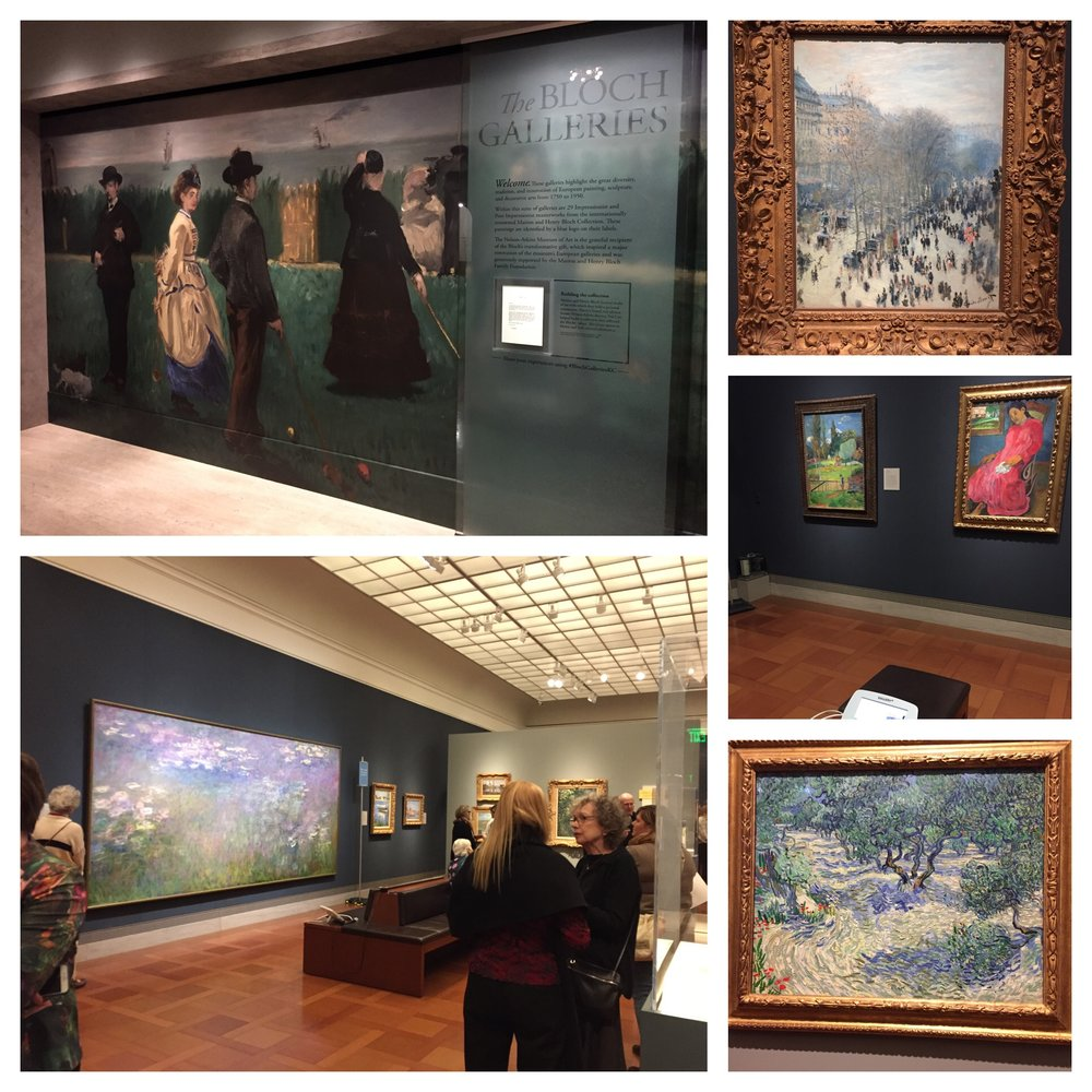 Top right is my favorite Monet so I'm glad it's back for me to see again!