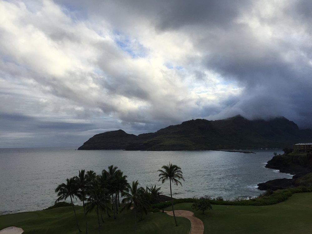 Aloha from the balcony of our villa!