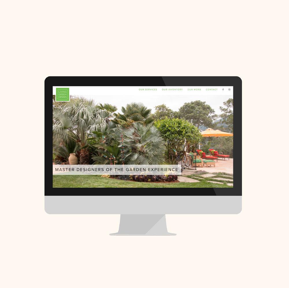 landscape designer website design