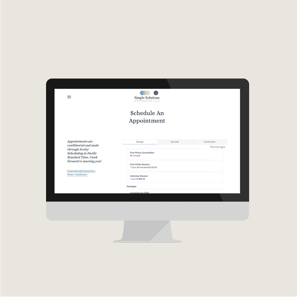 Website Designer Hypnosis Company