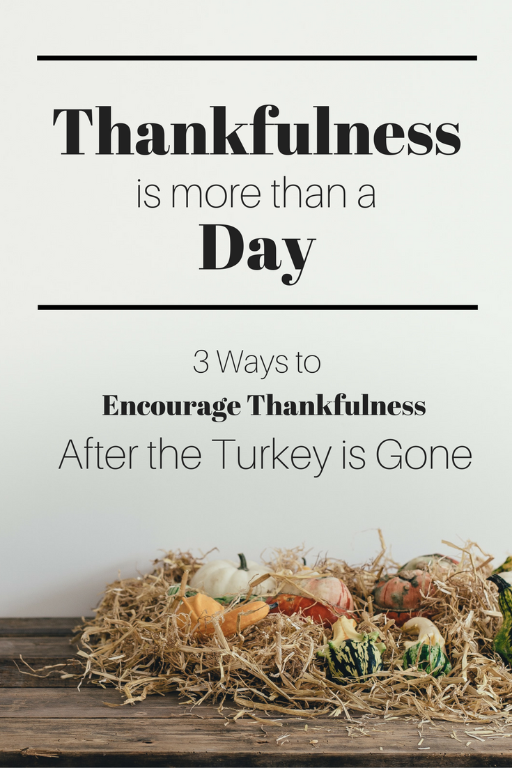 Thanksgiving only happens once a year, but what about the other 364 days a year? Simple living is in itself a kind of thanksgiving that can last all year long. Here are three tips for remaining thankful as the rest of the holiday season sets in.