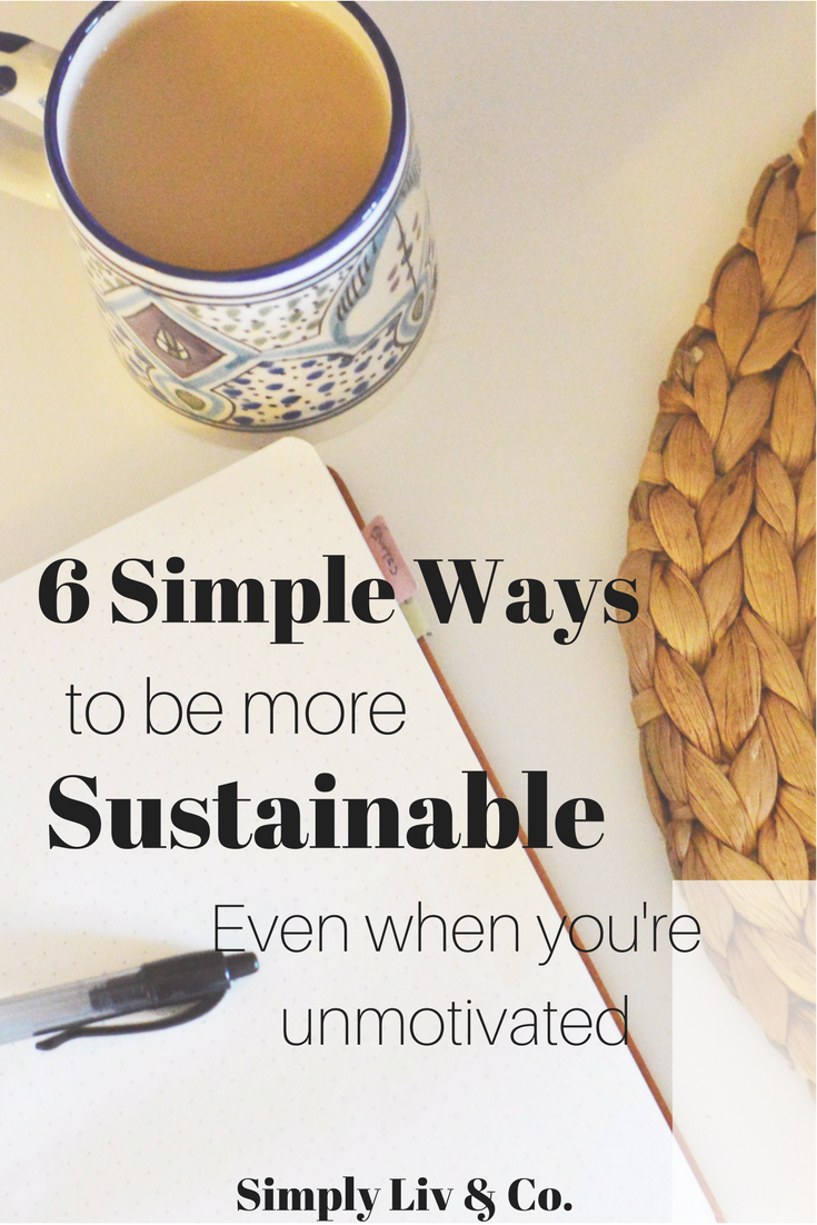 Sustainable living takes a lot of work- it's normal to go through phases of unmotivation, or carelessness. But with these tips, you'll be ready to jump back in.