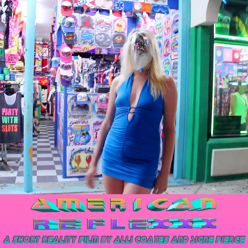 "Signe Pierce  American Reflexxx - January 20th, 6-9 PM January 20th - February 11th, 2018       American Reflexxx  will begin its run at New Release on Saturday, January 20th from 6-9 PM. New Release is a former video rental store in Chinatown that was converted into an art gallery in 2015.   In keeping with the history of the space, the interior of New Release will be filled with a lush lighting design by Signe Pierce, incorporating elements of decor that are signature to a classic video store or cinema screening room. The short film  American Reflexxx  (dir. Alli Coates)   will be screening on a loop on a mounted television.   Inviting guests to stop in on cold winter afternoons, sit on the couch and absorb the provocative film, New Release will expand from a gallery to a place where one can come to relax and enjoy a safe space whilst hopefully inspiring social and political discourse among both friends and strangers.  --  Signe Pierce is a multimedia artist whose work straddles performance, photography, video, social media, light design and installation.    As a self-described ""reality artist"", Pierce's work is inspired by the concept of reality being an artistic medium, and that an artist's life can be viewed within a similar context as an artist's work.  Her work often explores multi-layered perceptions, and the ways that we discern what is considered ""real"" or ""actual"" within a burgeoning era of hyperreality and technological singularity.    Over the past year, Pierce has participated in multiple performances, installations, and exhibitions, including solo shows at Annka Kultys Gallery in London and Galerie Nathalie Halgand in Vienna, an installation and performance at the Museum of Fine Arts in Leipzig, Germany, a performance at the Museum of Modern Art, and an artist's talk at Yale University. She is the star and co-creator of the acclaimed short film,    American Reflexxx ,  which has received multiple awards and has been screened in over 15 countries ."