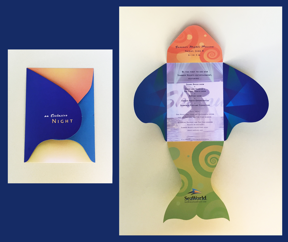 Seaworld:  Summer nights event invitation  Agency:  LCDA  Designer: Carey Gerwig Jones