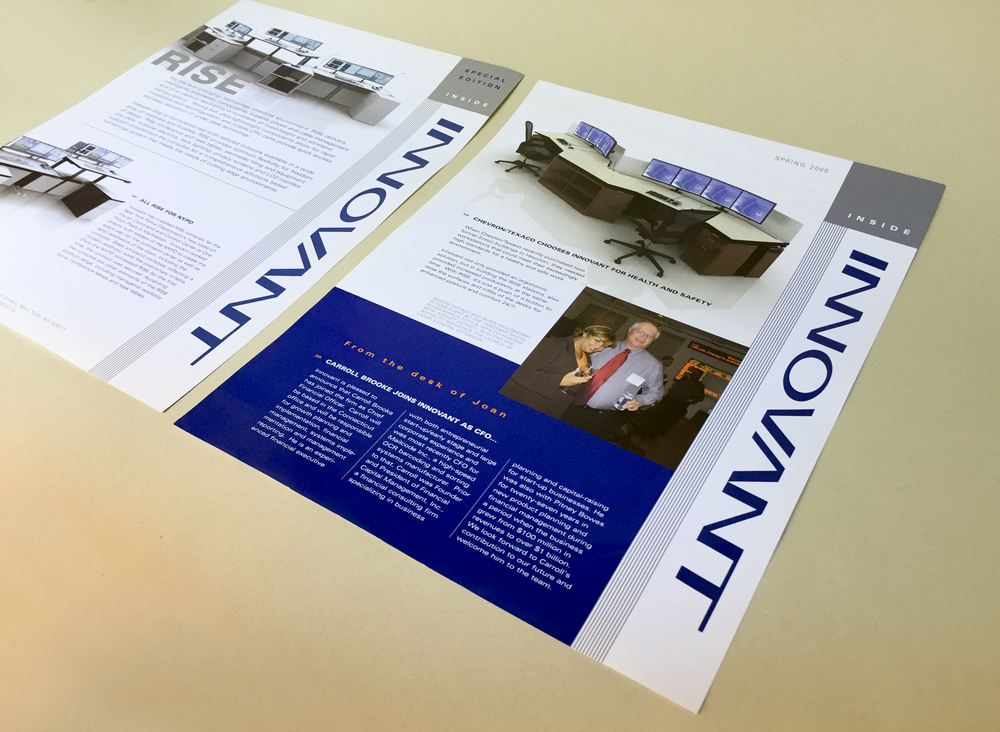 Innovant: H igh end furniture company newsletter and collateral