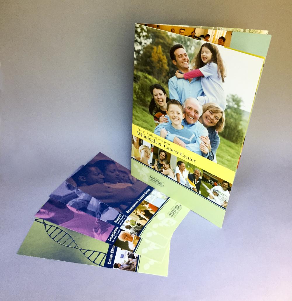 Norwalk Hospital:  Whittingham Cancer Center Brochures  Agency:  Snyder Group  Art Director:  Carey Gerwig Jones
