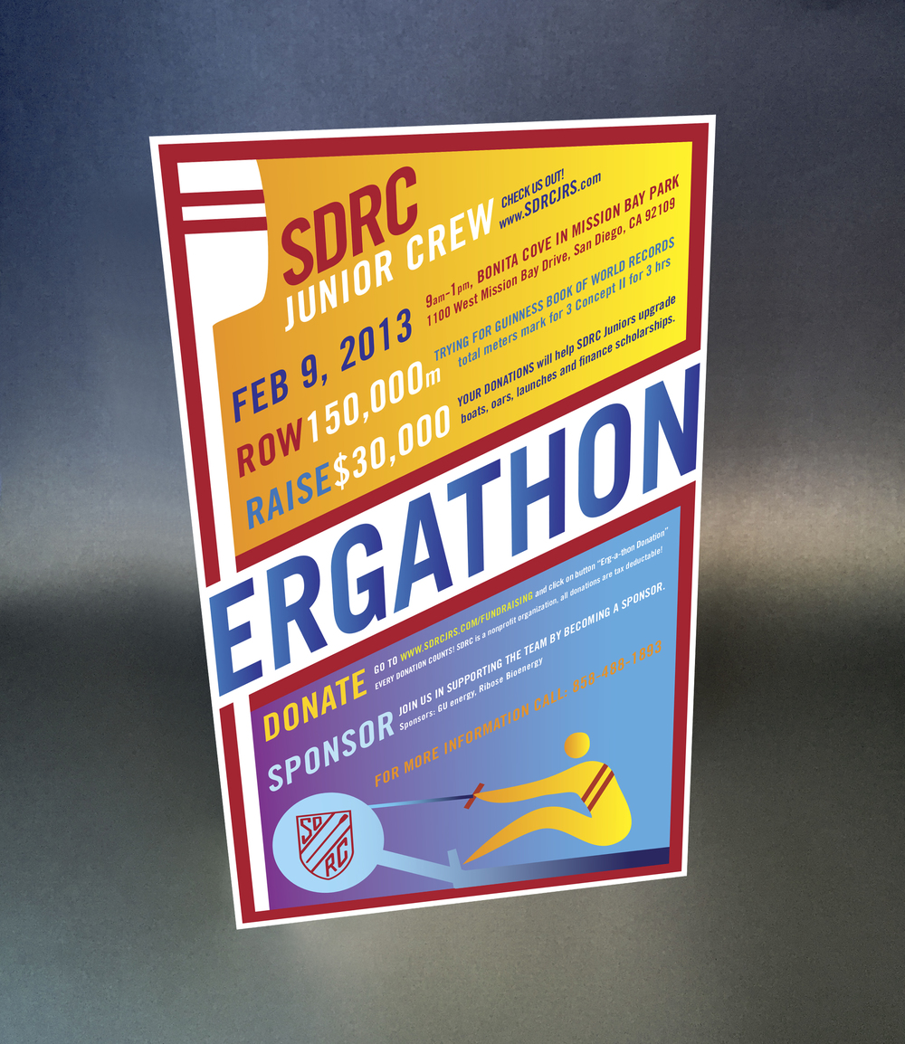 San Diego Rowing Club:   Youth program fundraising poster