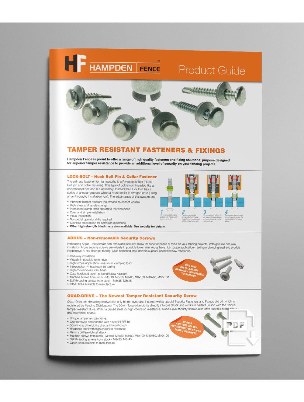 TAMPER RESISTANT FIXINGS