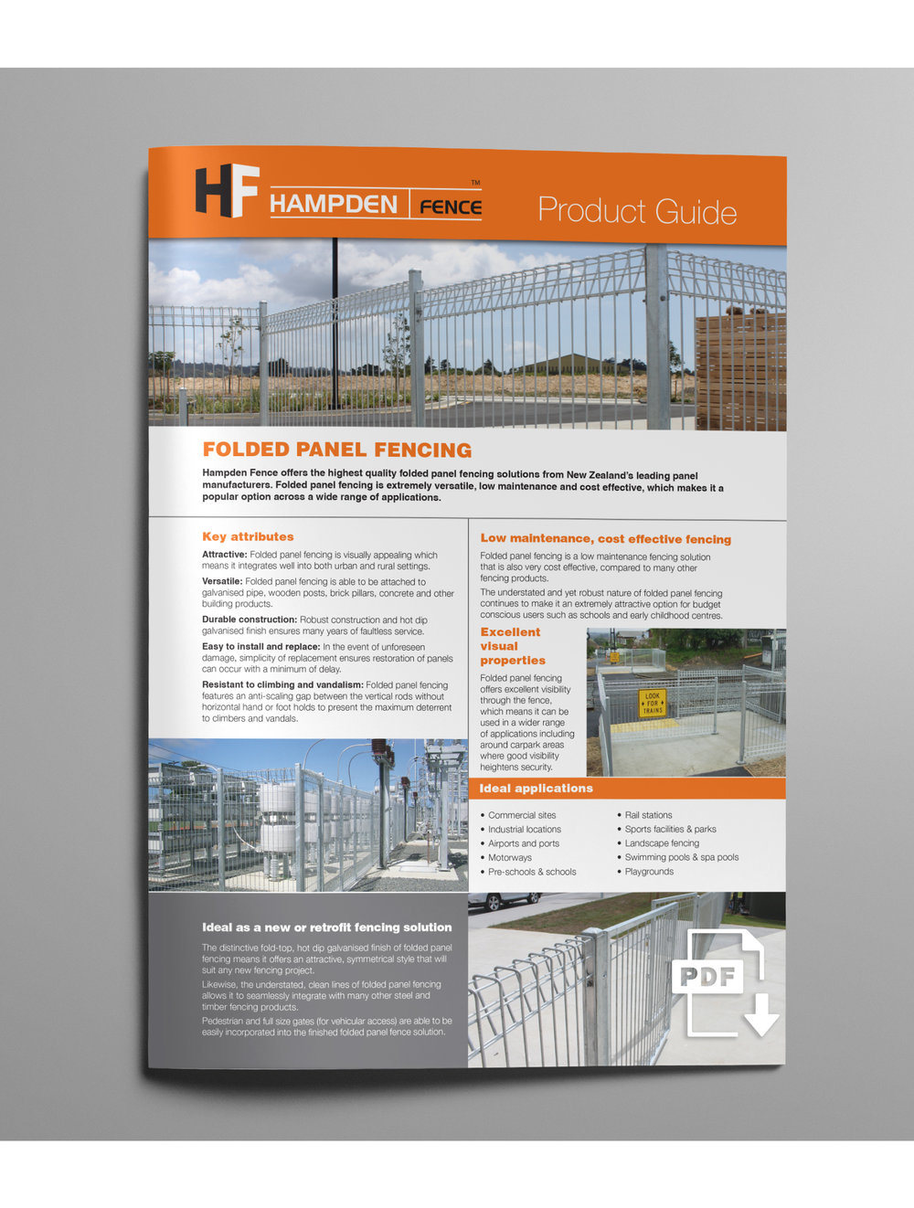 FOLDED PANEL FENCING
