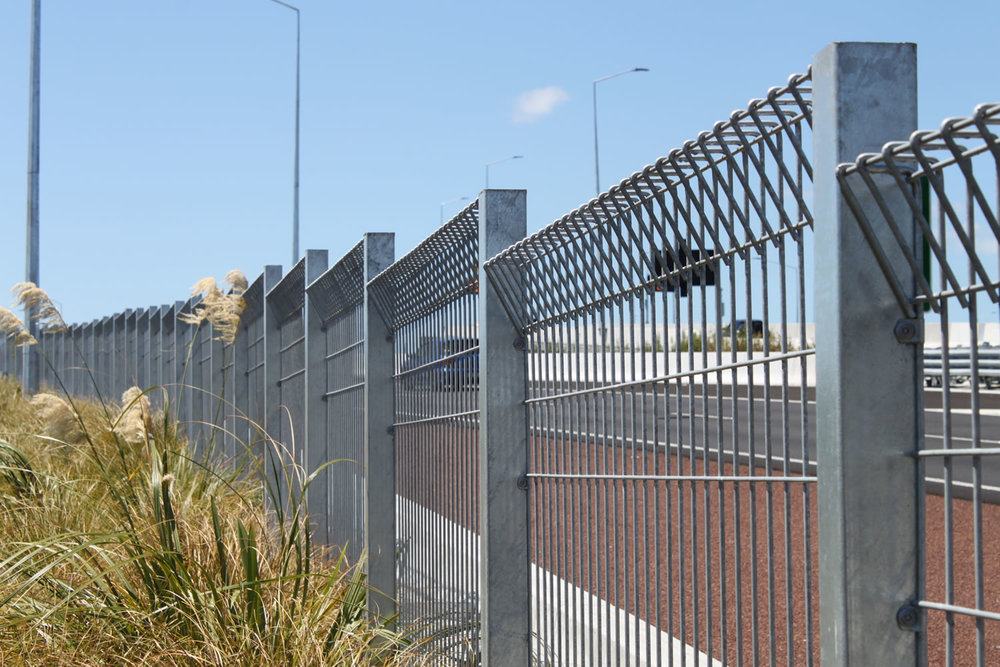 Waterview Connection Custom Fabricated Folded Panel Fencing .jpg