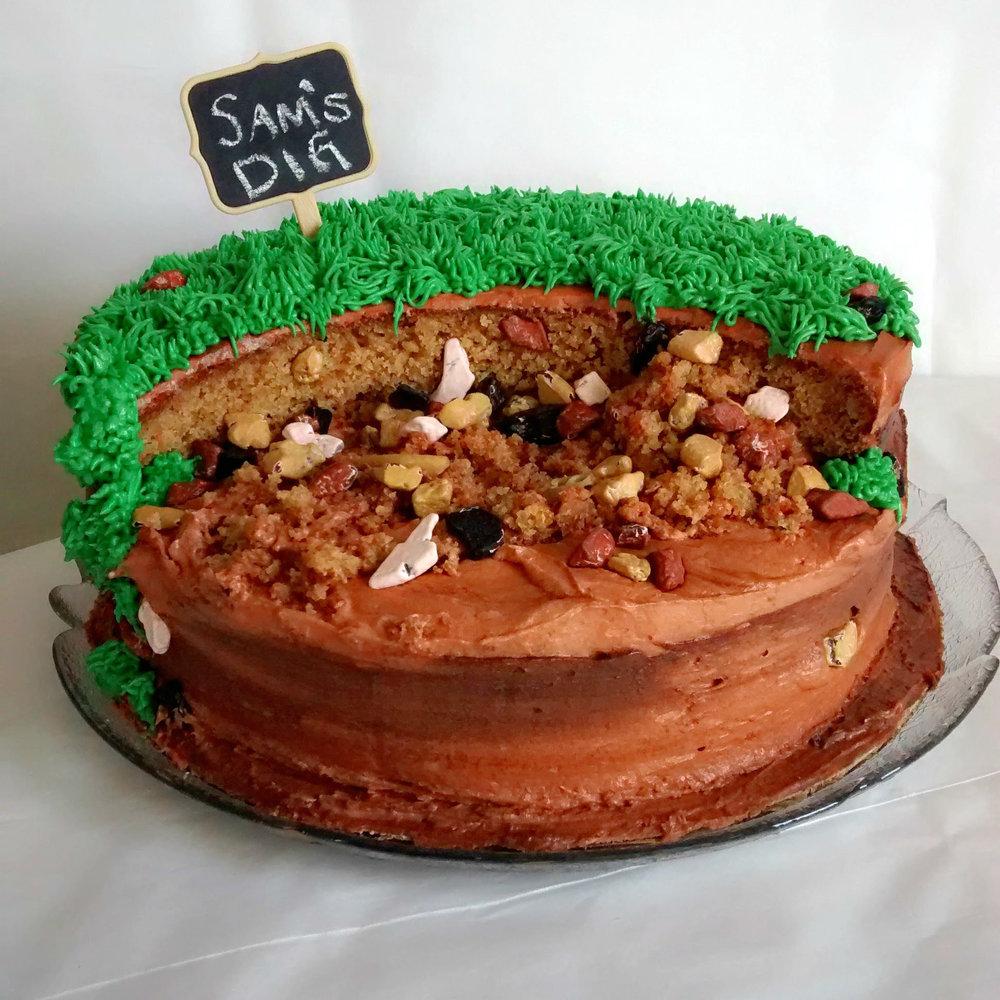 Dino Dig Cake!