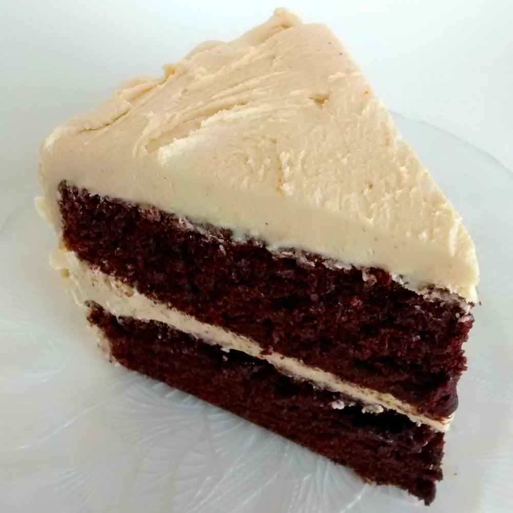 Peanut Butter Chocolate   Dark chocolate layers and peanut butter buttercream - a staff favorite!