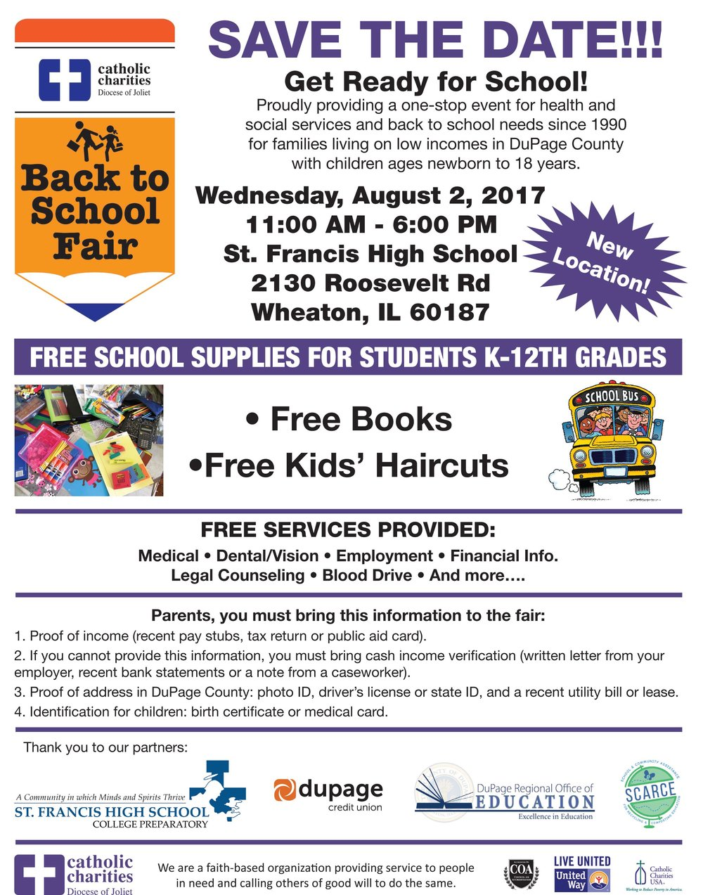 27th Annual DuPage County Back to School Fair Flyers in English and Spanish-1.jpg