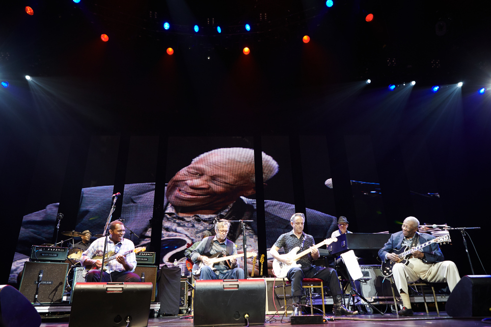 Robert Cray, Eric Clapton, Vince Gill, and BB King at Crossroads Guitar Festival