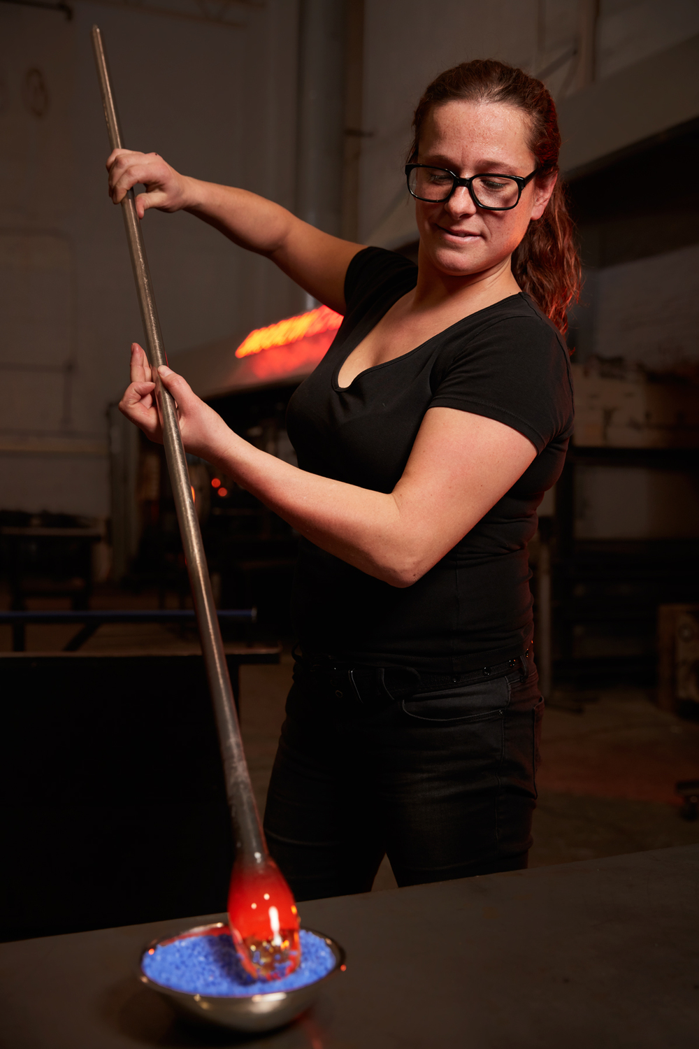 Michelle Knox, Glassblower