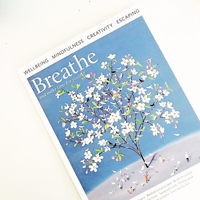 Hello... Breathe.... the word creativity grabbed my attention on this magazine. Looking forward to getting a coffee and sitting by the river and reading...