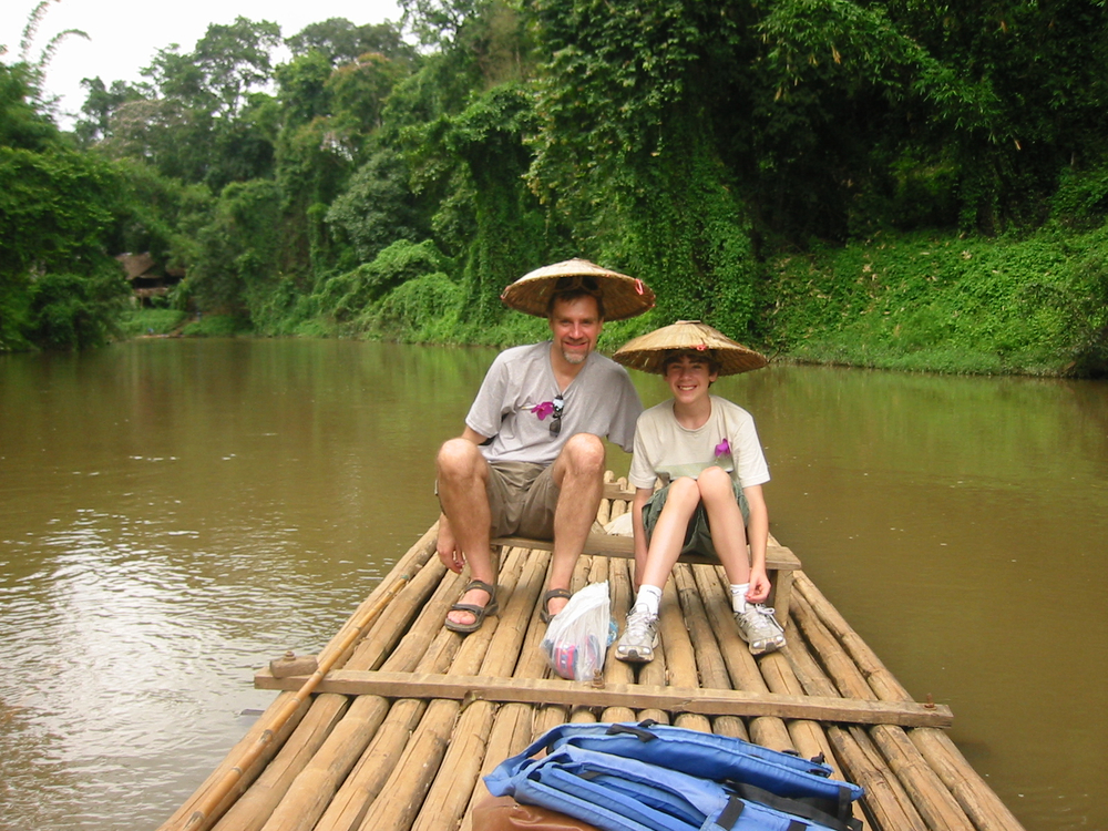 Mikel and his son, Stefan, in Northern Thailand