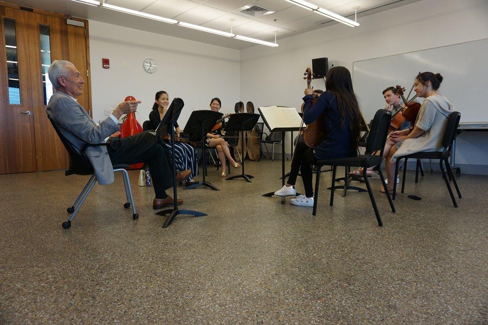Steinhardt coaching Brahms