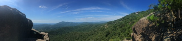 Mountains! Awesome panorama of Blue Ridge mountains after an excellent hike.