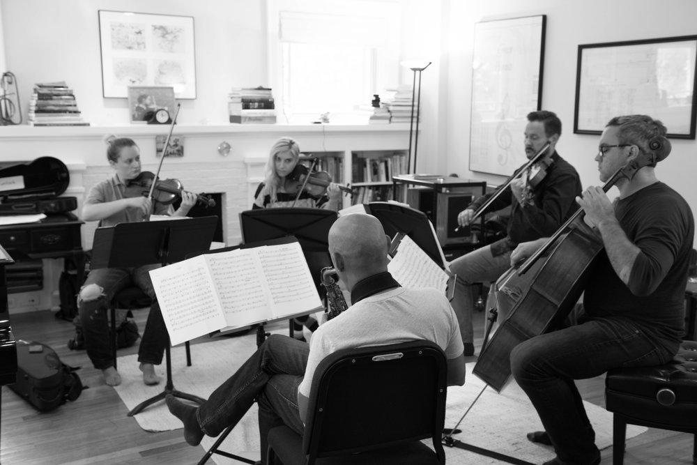 In rehearsal (credit: Bob Watson)