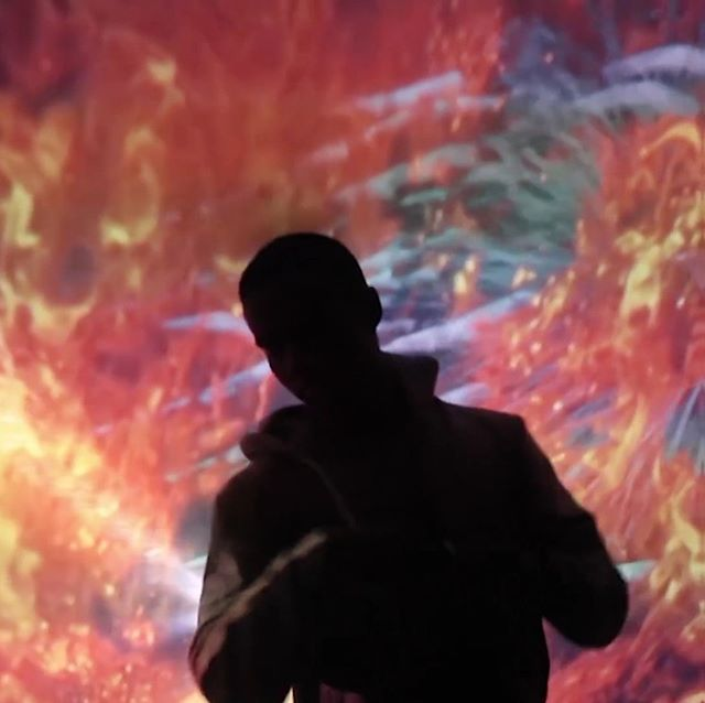 Old snapshot from Oasis  #fire #projection #dance #digitalart #installation