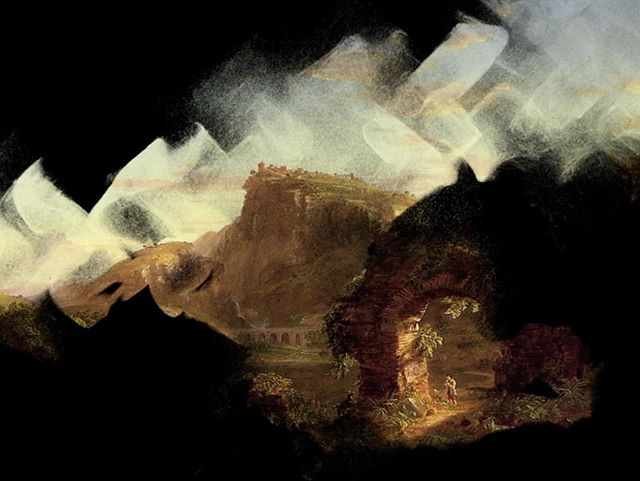 Thomas Cole coming to life  #interactive #thomascole #painting #touchdesigner