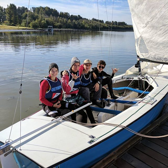 team oly all smiles after winning keel boat qualifiers
