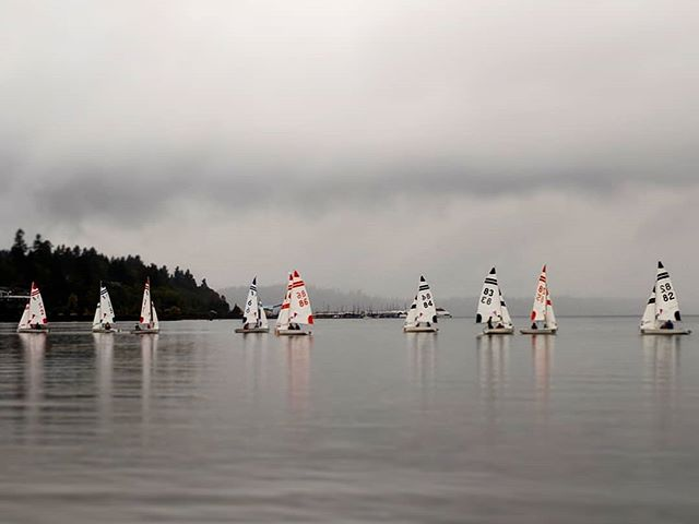 Grey day at practice, wind was a whirl pool, but I was impressed nonetheless at the sailors focus, and pushing their limits with roll tacks ⛵